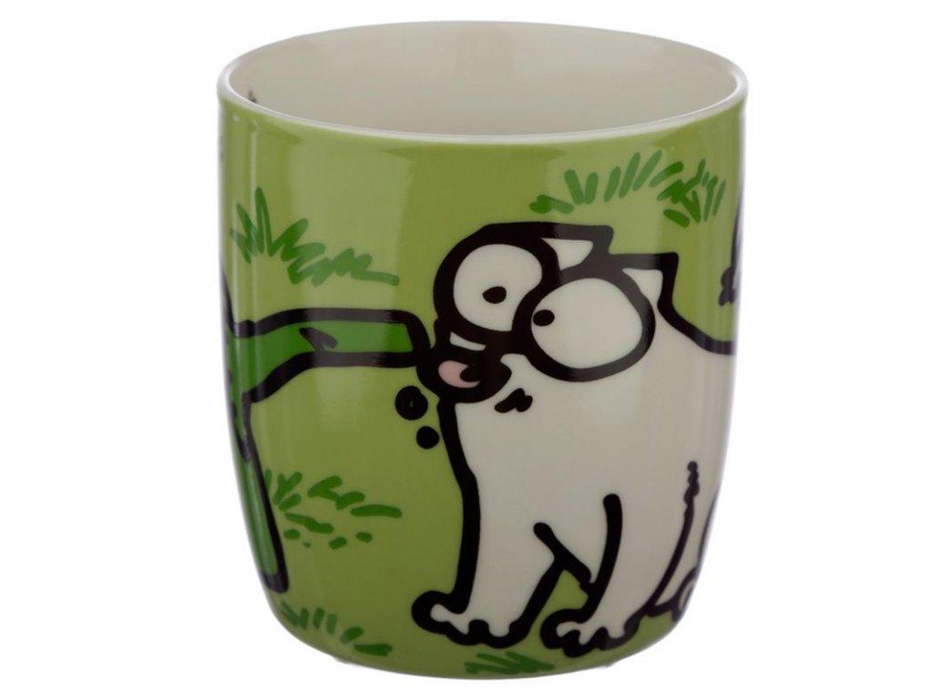 hrnek kočka s kočkou kočičí simons cat zelený 2