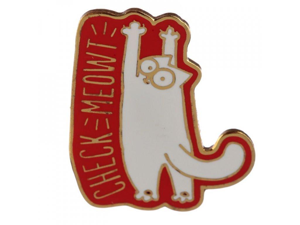 brož kočka s kočkou kočičí simons cat