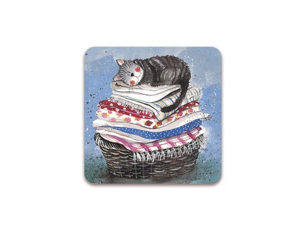 kočka v koši podtácek kočka s kočkou kočičí alex clark