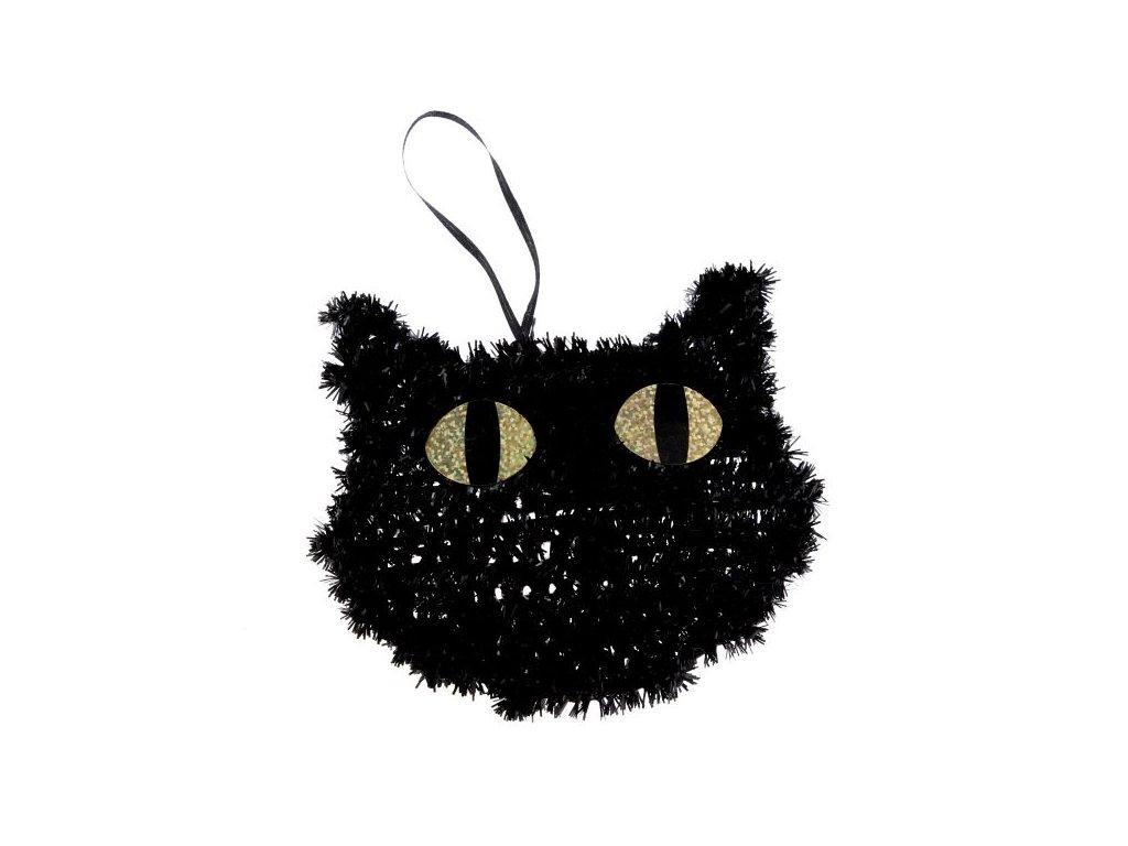 kočka dekorace halloween