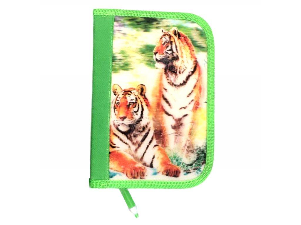 penál s velkou kočkou kočičí tygr