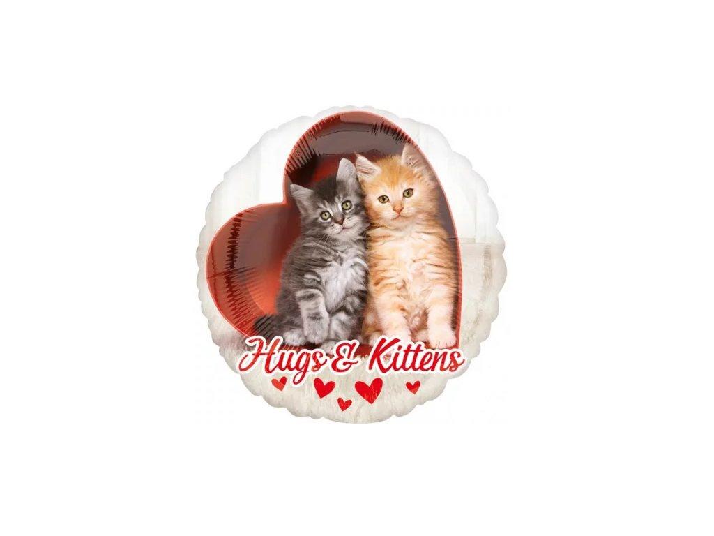 balonek kočka s kočkou kotě 43 cm