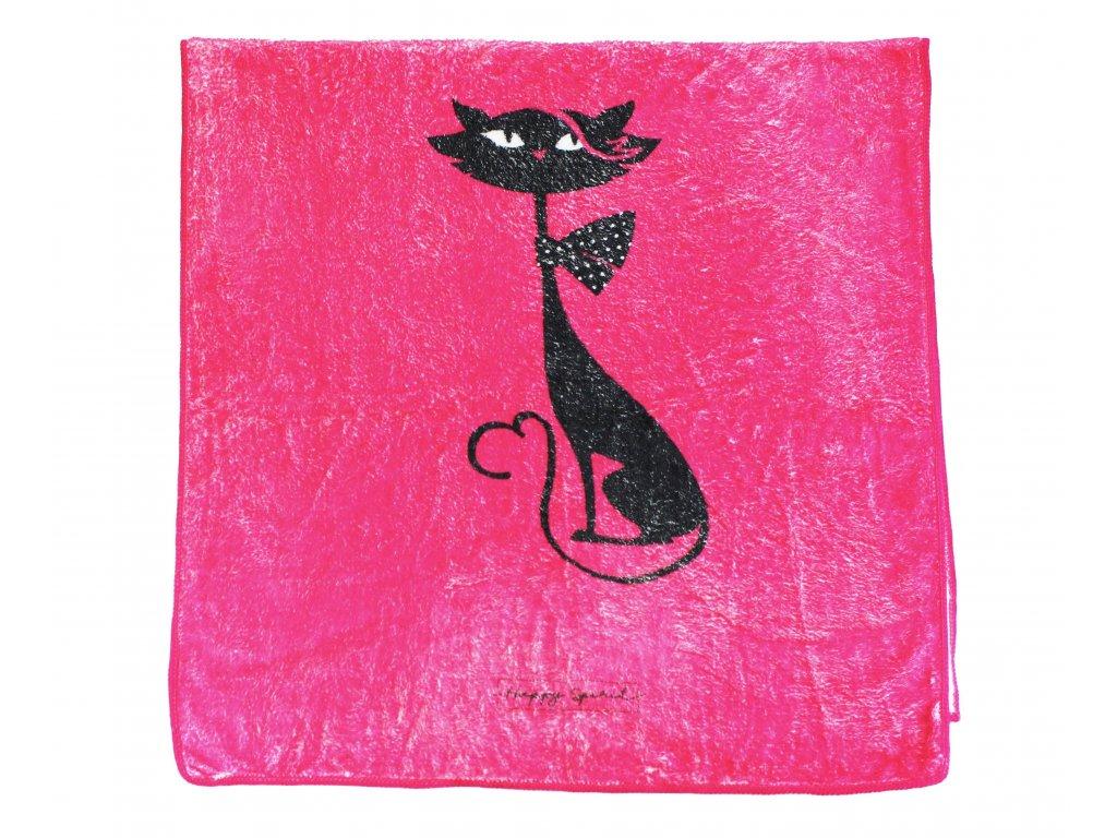 ručník z mikrovlánka kočka s kočkou kočičí 4
