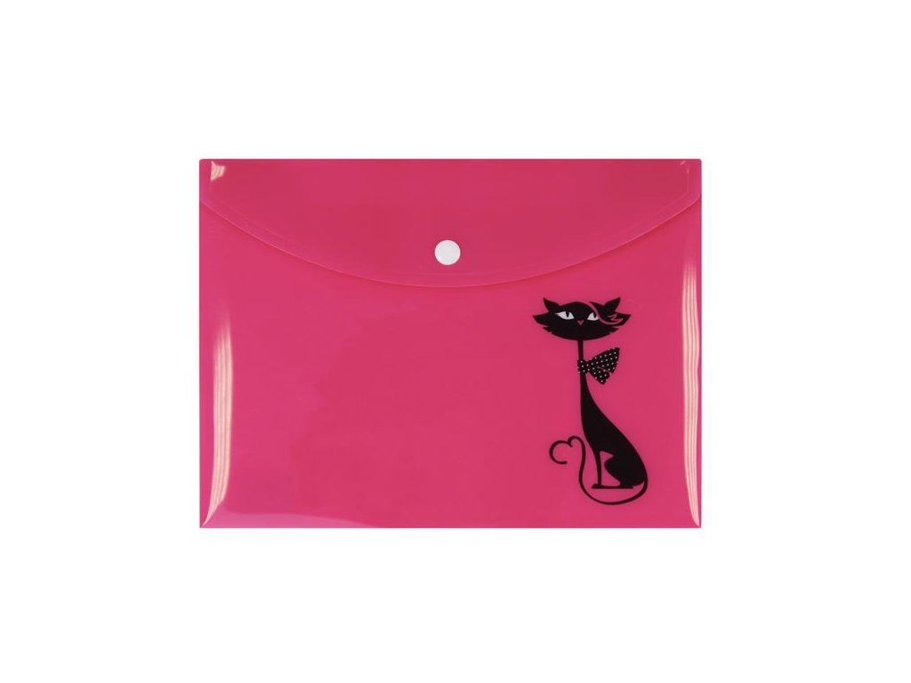 pouzdro na dokumenty obálka kočka s kočkou kočičí A5