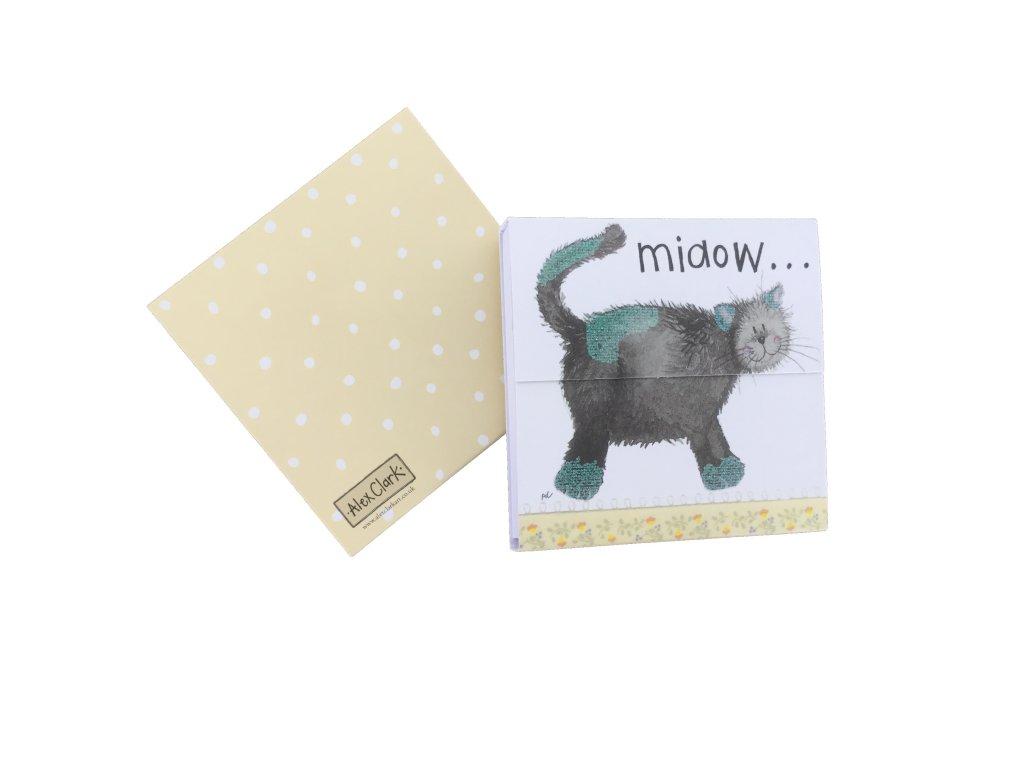trhací bloček magnetický kočka s kočkou kočičí alex clark