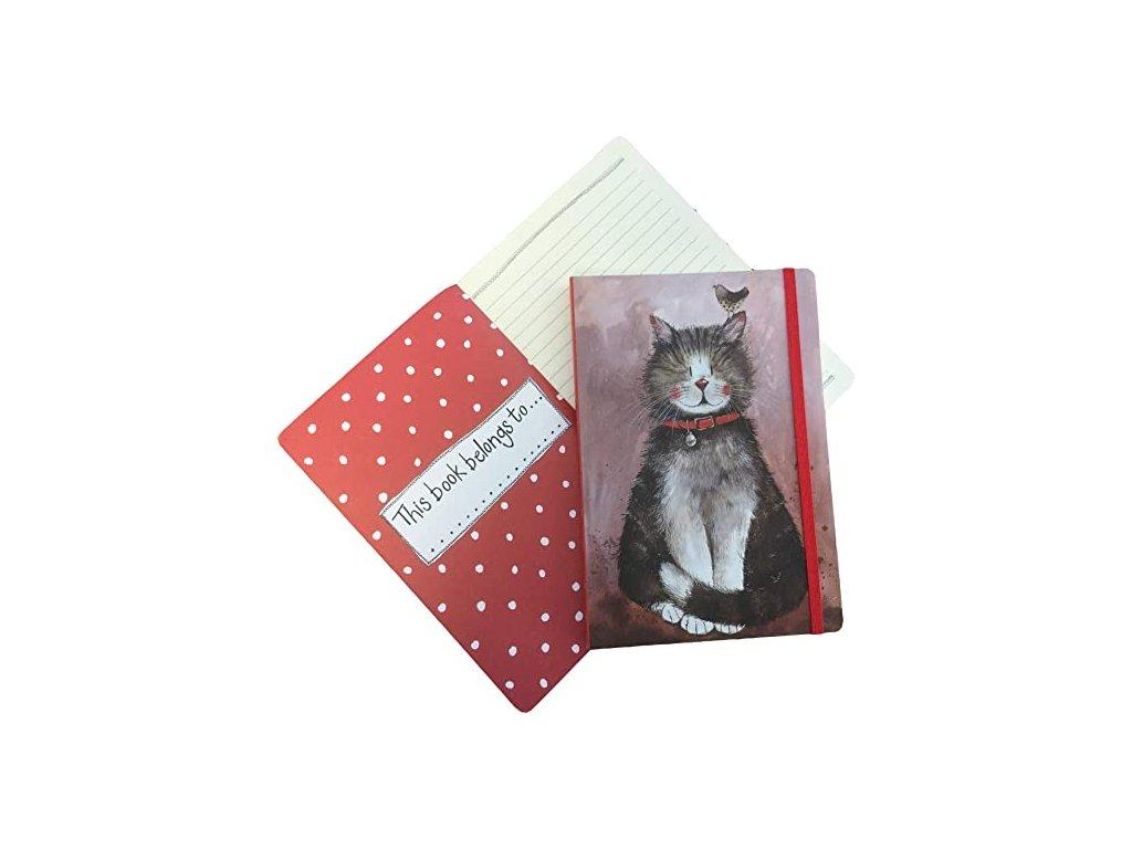 větší zápisník kočka s kočkou kočičí kocour diář alex clark