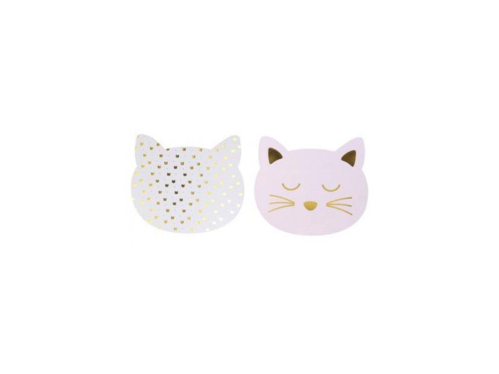 prostírání kočka s kočkou kočičí hlavička 2