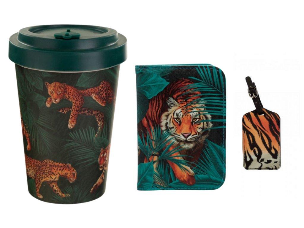 cestovní sada kočka s kočkou kočičí gepard tygr lev