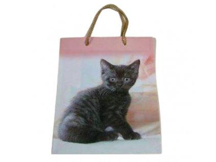 dárková taška kočka s kočkou kočičí kotě malá