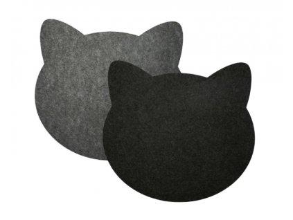 prostírání podložka pod myš kočka s kočkou kočičí