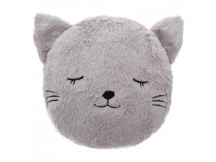 polštář kočka s kočkou kočičí chlupatý uši čumáček