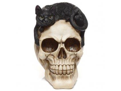 dekorace kočka s kočkou kočičí lebka lisa parker 2