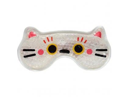 gelová kosmetická maska na oči chladící kočka s kočkou kočičí maneki neko