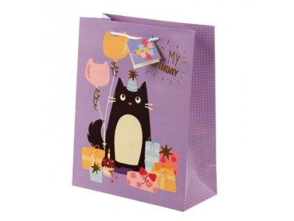 Dárková taška kreslená kočka - velikost L
