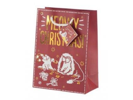vánoční dárková taška simons cat M 2