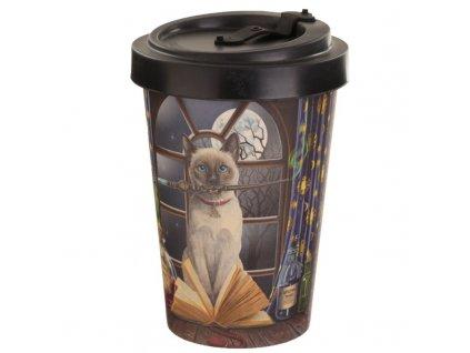 kelímek cestovní bambusový kočka s kočkou kočičí Lisa Parker 4