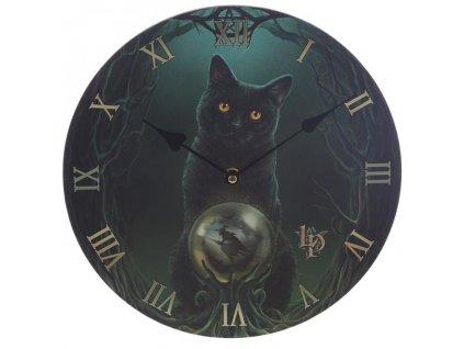 kočka hodiny nástěnné