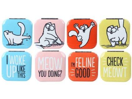 zrcátko do kabelky kočka s kočkou kočičí simons cat