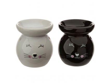 keramická aromalampa kočka s kočkou kočičí
