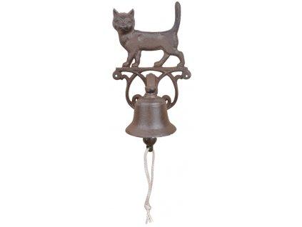 zvonek s kočkou kočka litinový 2