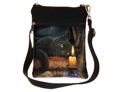 kabelka přes rameno kočka kniha s kočkou kočičí Lisa Parker