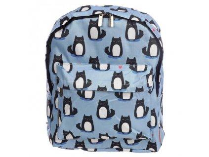 kočka batoh modrý levný