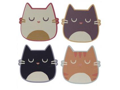 podtácky kočka kočičí dřevěné s kočkou 5