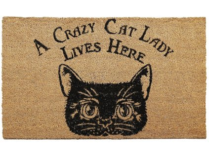rohožka kočka s kočkou crazy cat lady kokosová 2