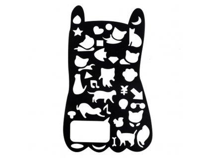 Velká šablona na kreslení kočka
