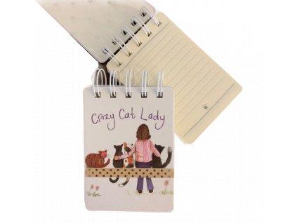 spirálová blok bloček kočka s kočkou kočičí mačka s mačkou mačacie alex clark 3