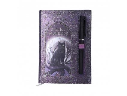 diář zápisník notes blok kočka s kočkou kočičí magie čarodějnice