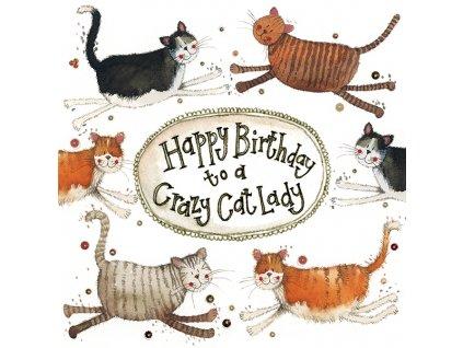 přání blahopřání narozeninové kočka s kočkou kočičí Alex Clark