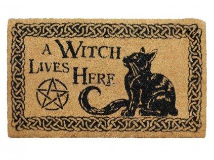 rohožka kočka s kočkou čarodějnice pentagram 2