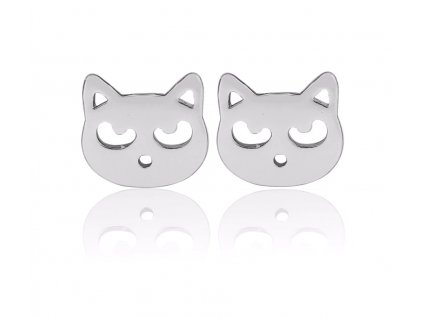 náušnice kočka s kočkou kočičí hlava