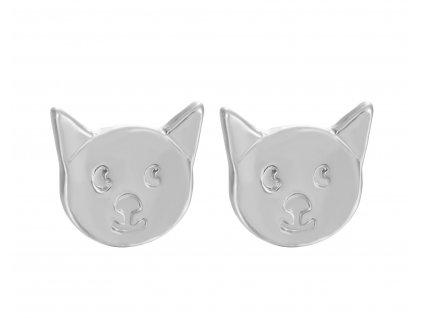 náušnice kočka s kočkou kočičí hlavička uši oči