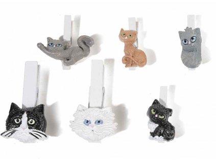 kolíčky kočka s kočkou kočičí 9