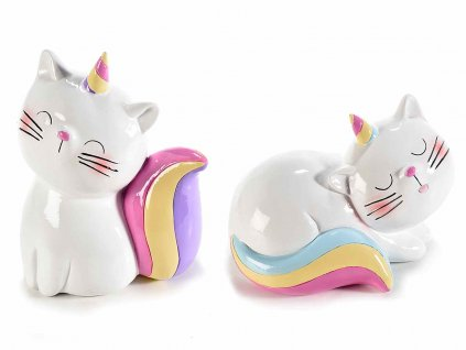 kasička pokladnička kočka s kočkou kočičí jednorožec