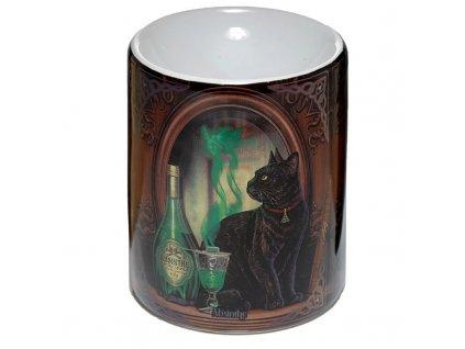 aromalampa kočka s kočkou kočičí lisa parker zelená víla