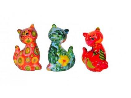 slánka pepřenka kočka s kočkou kočičí design barevné 3