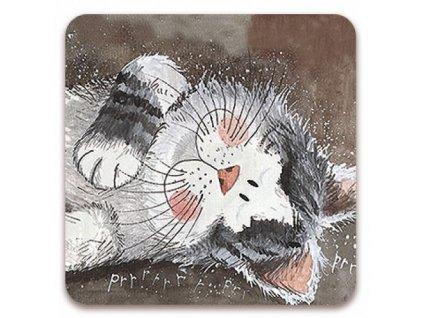 podložka podtácek kočka s kočkou kočičí Alex Clark