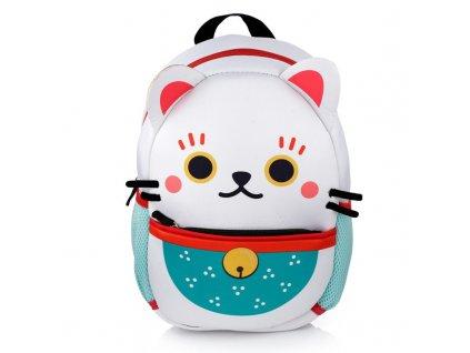 neoprenový batoh kočka s kočkou kočičí maneki neko