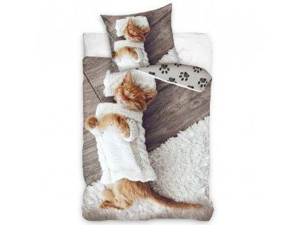 povlečení kočka s kočkou kočičí kočičí tlapky