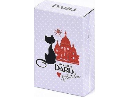 krabička na cigarety kočka s kočkou kočičí paříž sacre coeur