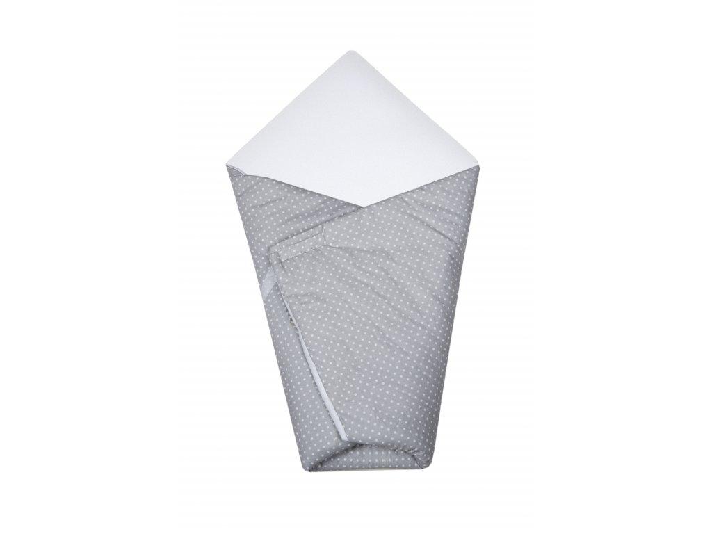 Zavinovačka Maceshka basic bílá, puntík v šedé