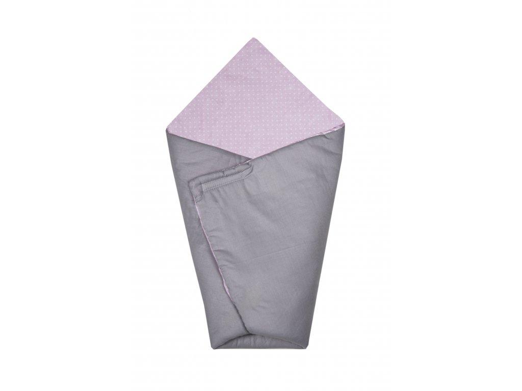 Zavinovačka Maceshka basic šedá, puntík v růžové