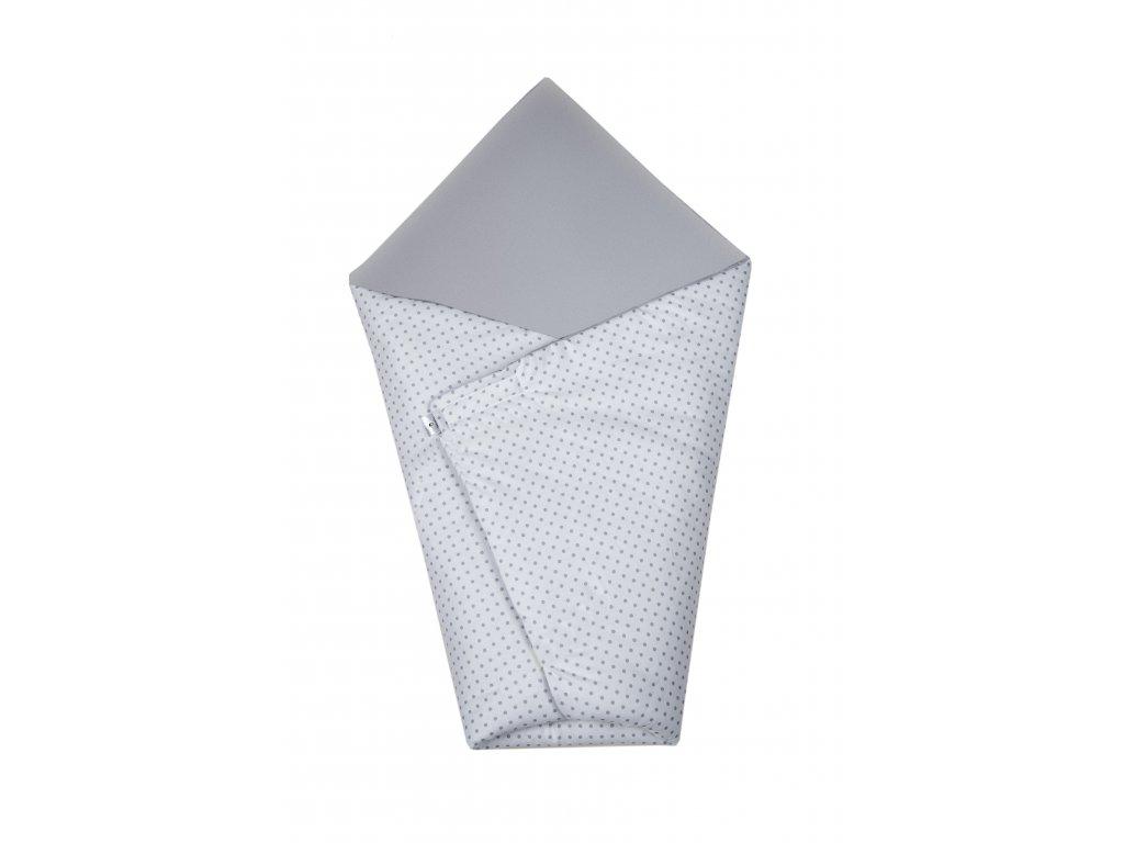 Zavinovačka Maceshka basic šedá, šedý puntík
