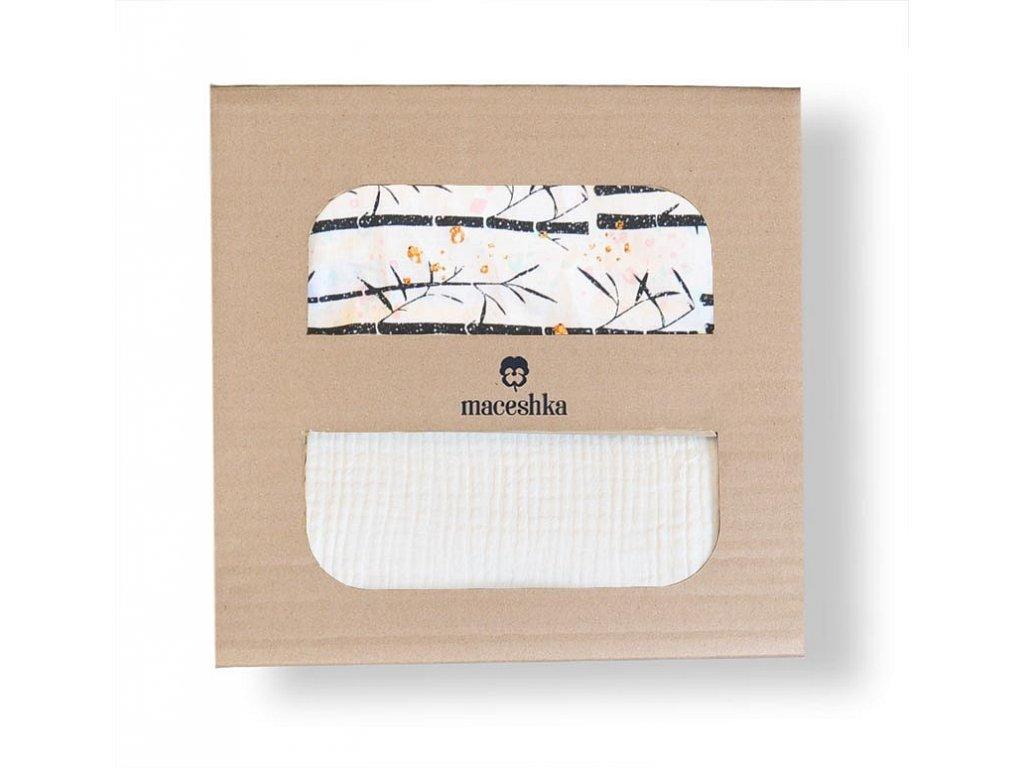 Povlečení Maceshka Nature bavlna Bamboo, mušelín blanc