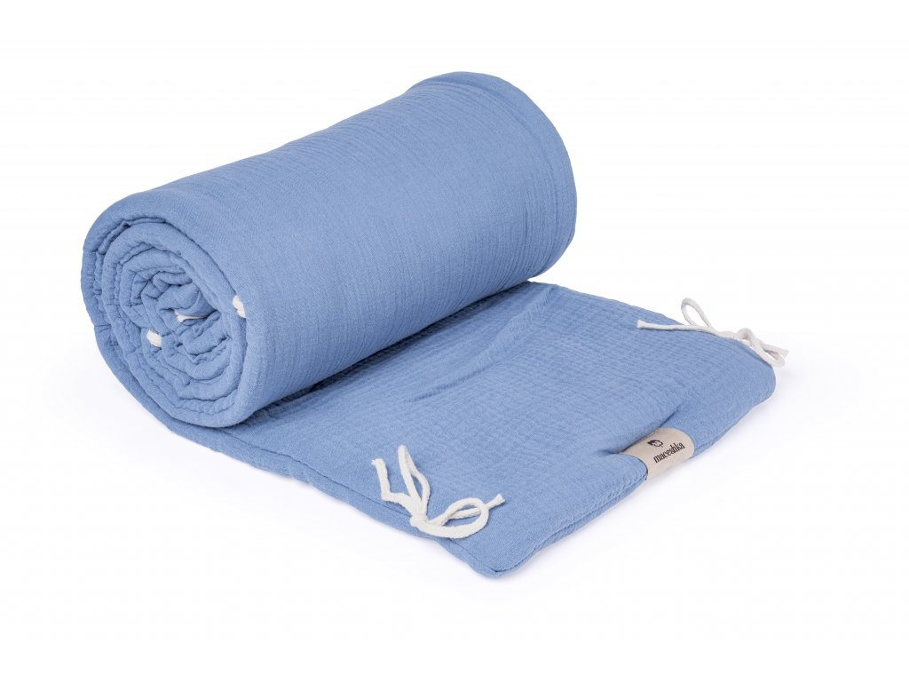Mušelínový mantinel Maceshka Nature blue jean