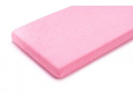Prostěradlo Maceshka nepropustné froté 120x60cm růžová