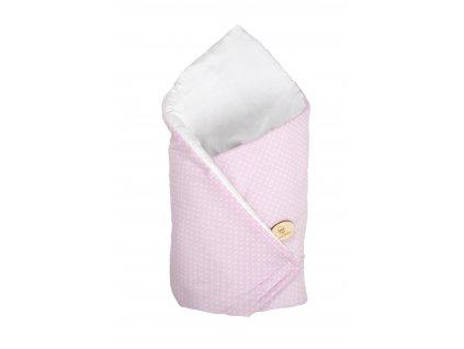 Zavinovačka Maceshka basic bílá, puntíky v růžové